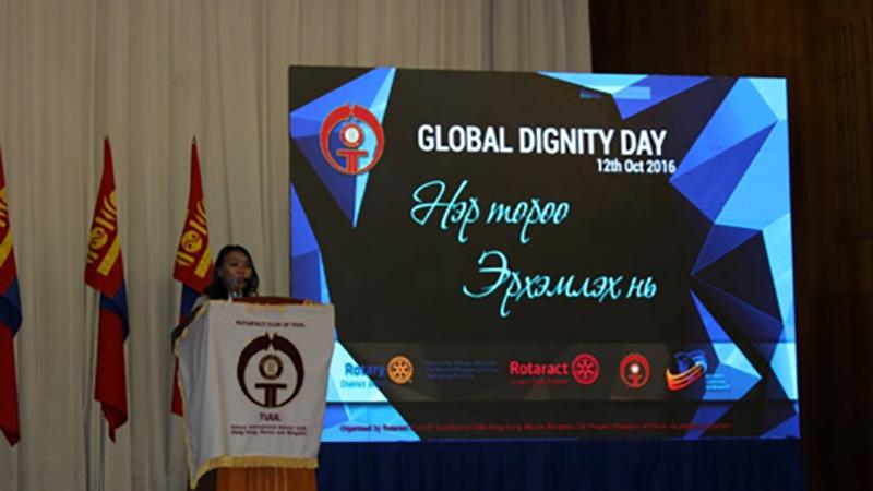 Rotaractor Report on Global Dignity Day, By Battsenguun Purevsuren/Betty, Rotaract Club of Tuul Mongolia – Secretary 20-21