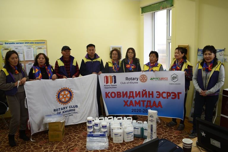 """""""Together We Fight Against Covid"""", by Rotary Club of Khuree"""