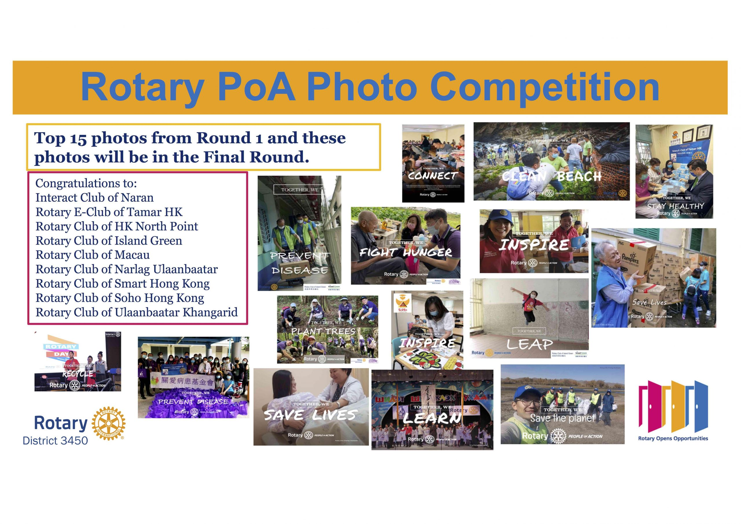 People of Action Photo Competition Round 1 Completed – Updated by PP Angela Hui
