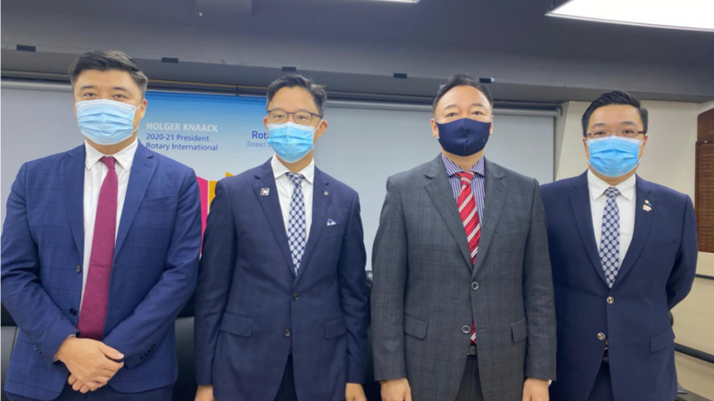 The Consul General of Mongolia in HK thanked for Rotarians' generosity (By District Secretary – Mongolian Affairs, Louis Ma & P Francis Chan, RC of New Territories)