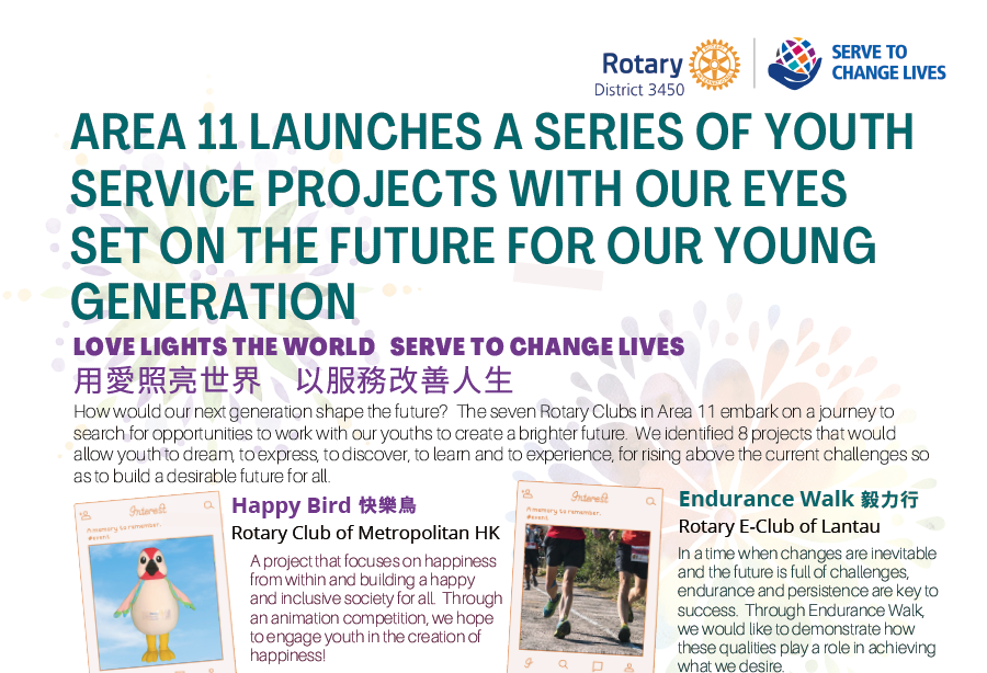 AREA 11 LAUNCHES A SERIES OF YOUTH SERVICE PROJECTS WITH OUR EYES SET ON THE FUTURE FOR OUR YOUNG GENERATION